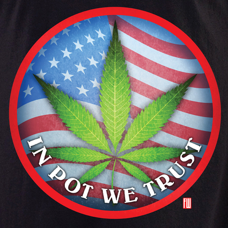 In Pot We Trust shirt | Cannabis