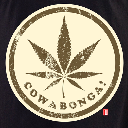 Cowabonga 2 White T shirt | Cannabis