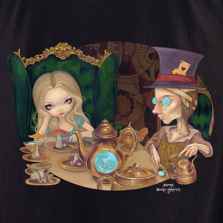 Jasmine's Alice and the Mad Hatter shirt | Jasmine Becket-Griffith