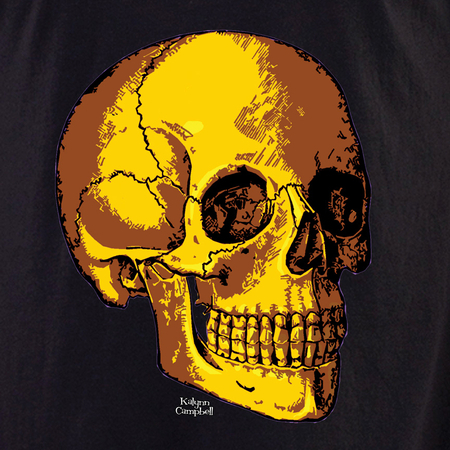 Kalynn's Retro Gold Skull T-shirt