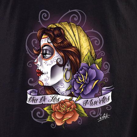 Iovino Dia De Los Muertos Skull Profile shirt | Latino