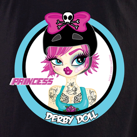 Miss Cherry Martini Pink Princess Derby Girl shirt | Roller Derby