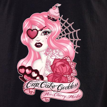 Miss Cherry Martini Cupcake Goddess shirt   Trend