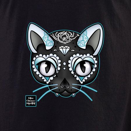 Miss Cherry Martini Blue Cat shirt | Trend