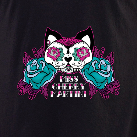 Miss Cherry Martini Sugar skull Cat tattoo shirt | Trend