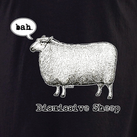 Evilkid Dismissive sheep shirt | T-Shirts