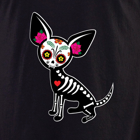Evilkid Chihuahua Muerta Sugar Skull Shirt | Evilkid