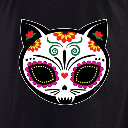 Evilkid Gato Muerto Sugar Skull Shirt | Latino