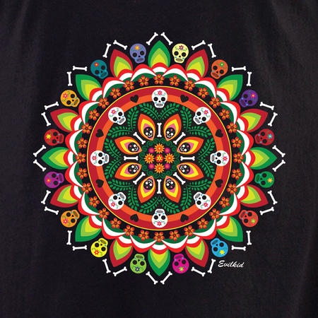 Evilkid Day of the Dead Muertos Mandala shirt | Latino