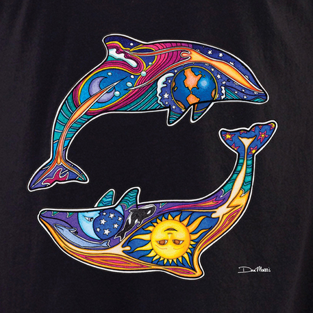 Dan Morris day night dolphins shirt | Celestial