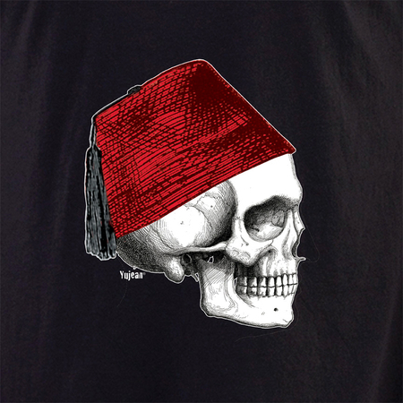 Fez Skull Profile shirt | Cabinet of Curiosities