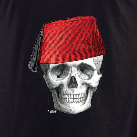 Fez Skull Face shirt | The Very Latest Shirts, Totes and Button Boxes!!