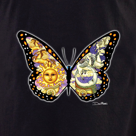 Dan Morris Celestial Chariot Butterfly Shirt | The Very Latest Shirts, Totes and Button Boxes!!