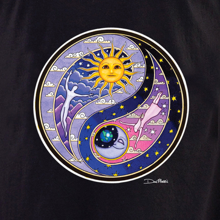 Dan Morris Celestial Yin Yang  Shirt | The Very Latest Shirts, Totes and Button Boxes!!