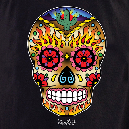 Sunny Buick Western Sugar Skull shirt | The Very Latest Shirts, Totes and Button Boxes!!