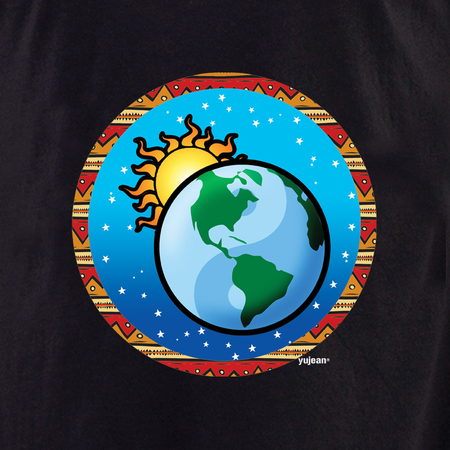 Yujean Yin Yang Globe T shirt | Peace and Eco