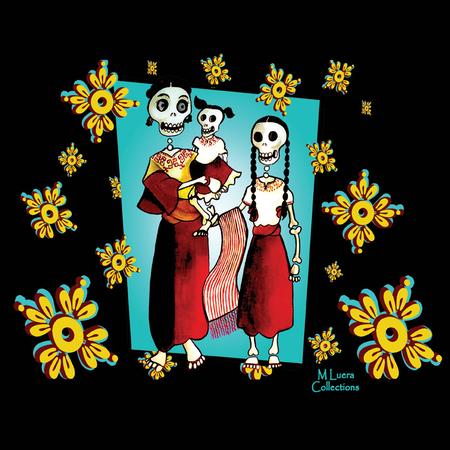 MLuera Dia de los Muertos Tshirt | T-Shirts