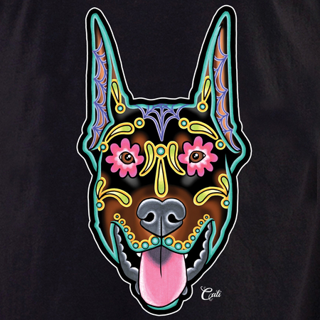Cali Doberman Cropped Shirt | T-Shirts and Hoodies