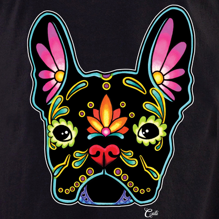 Cali French Bulldog Black Shirt | T-Shirts