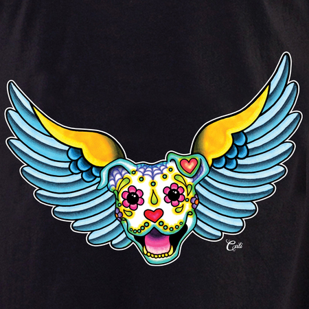 Cali Winged Pit Bull Shirt | T-Shirts