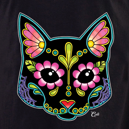 Cali Cat Black Shirt | The Very Latest Shirts, Totes and Button Boxes!!