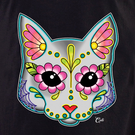 Cali Cat Grey Shirt | The Very Latest Shirts, Totes and Button Boxes!!