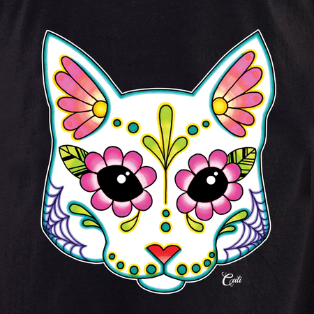 Cali Cat White Shirt | T-Shirts and Hoodies