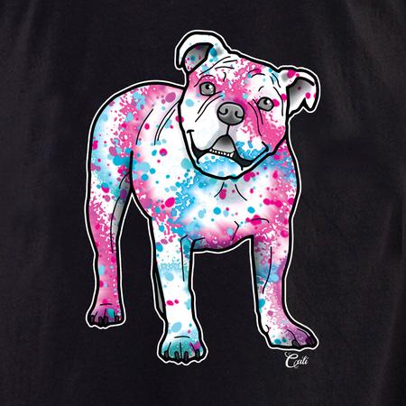 Cali American Bulldog Splash Shirt | T-Shirts