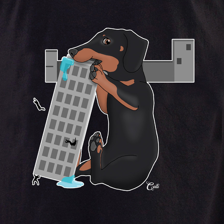 Cali Dachshund in the City Shirt | T-Shirts and Hoodies