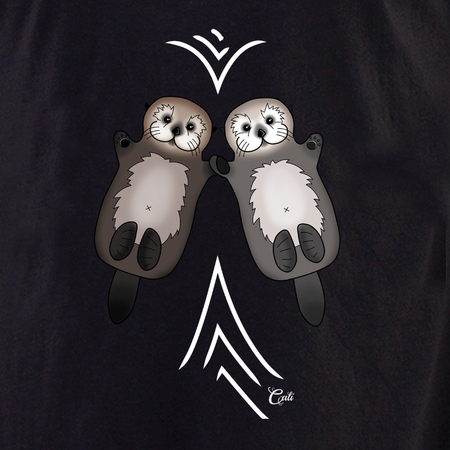 Cali Otter Couple with waves Shirt | T-Shirts and Hoodies