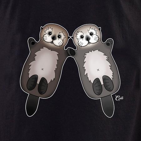 Cali Otter Couple Shirt | Peace and Eco