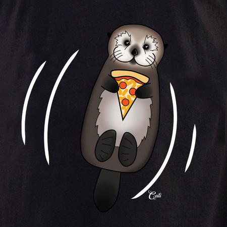 Cali Otter Pizza with Waves Shirt | T-Shirts