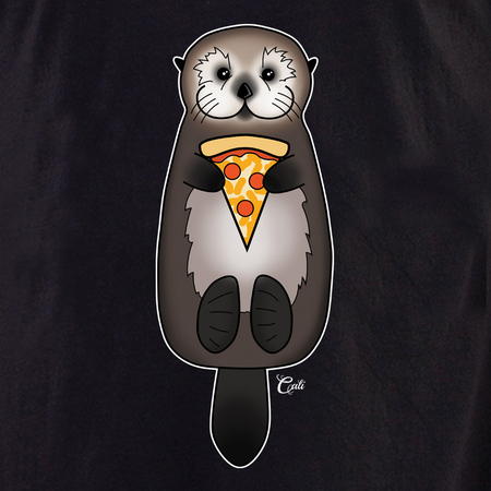 Cali Otter Pizza Shirt | Peace and Eco