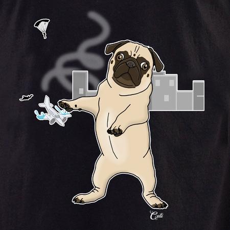 Cali Pug in the City Shirt | T-Shirts
