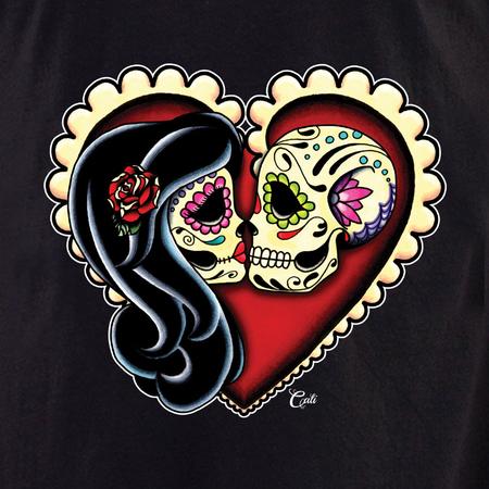 Cali Ashes Red Heart Shirt   T-Shirts