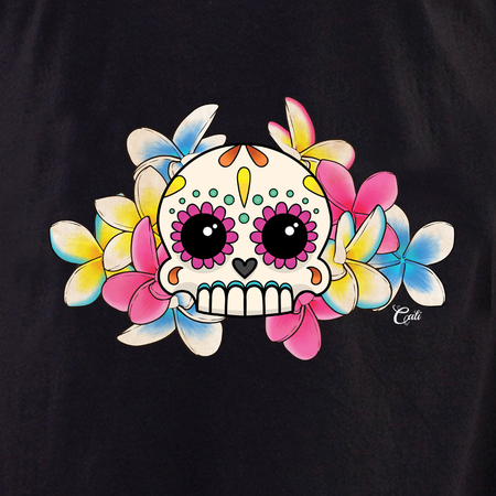 Cali Calavera con Flores Shirt | T-Shirts