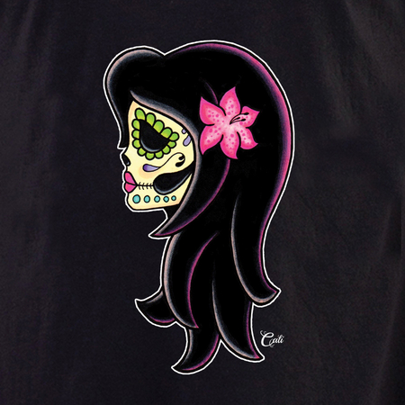 Cali Woman Pink Lily Shirt | T-Shirts and Hoodies