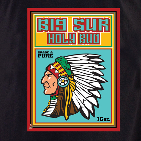 High Art Studios Big Sur Holy Bud T-shirt | Hippie