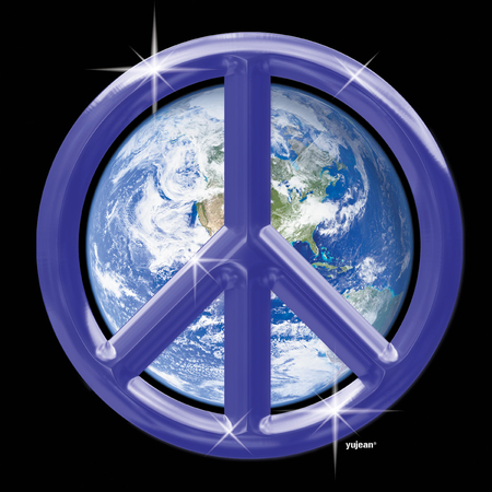 Purple Peace Earth T-shirt | T-Shirts and Hoodies