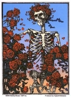 Grateful Dead Skeleton & Roses Sticker