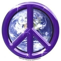 Purple Earth Peace Sticker