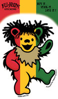 Grateful Dead Rasta Bear Sticker