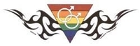 Yang Rainbow Tribal Pride Sticker