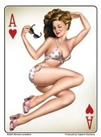 Ace Of Hearts Pinup Sticker