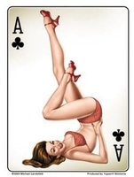 Ace Of Clubs Pinup Sticker
