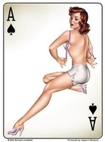 Ace Of Spades Pinup Sticker