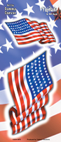 USA Flags Sticker