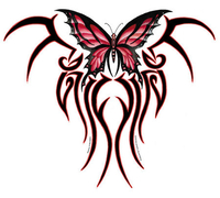 The Claw Tribal Butterfly Jumbo 10