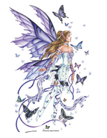Lavender Serenade Fairy Jumbo Sticker