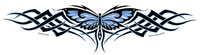 CLOSEOUT Tribal Butterfly Weave Jumbo Sticker